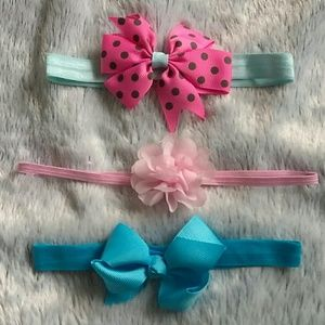 Other - Baby Girls Headband Accessories Blue and Pink